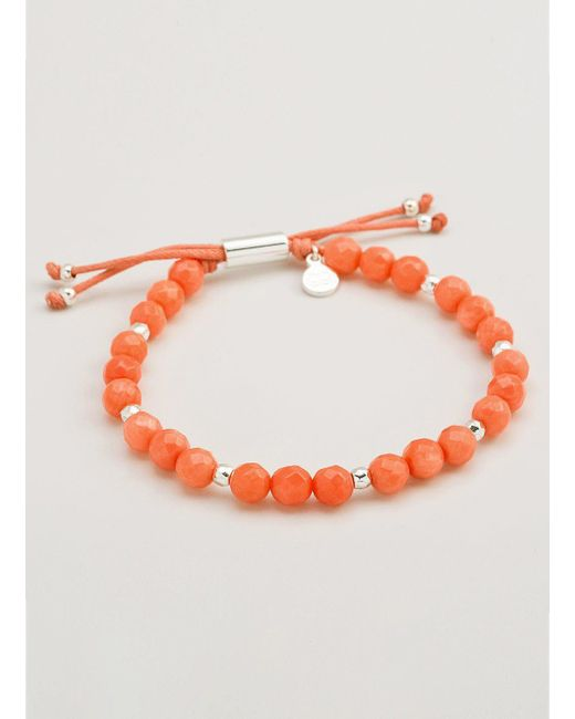 Gorjana & Griffin - Metallic Power Gemstone Pink Coral Beaded Bracelet For Harmony - Lyst