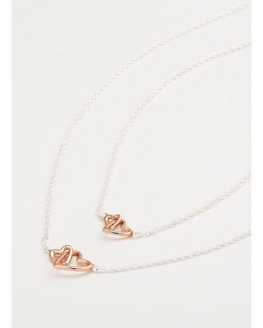 Gorjana & Griffin - Metallic Mini + Me Interlocking Hearts Necklace Set - Lyst