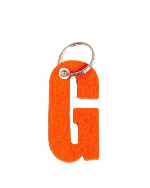 Graf & Lantz Orange Alphabet Key Fob Letter G