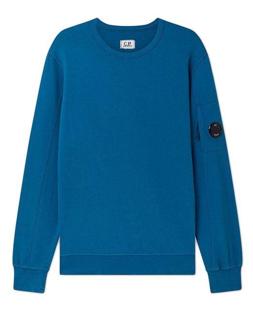 Felpa light fleece garment dyed di C P Company in Blue da Uomo