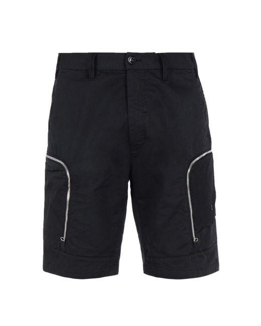 Mesh pocket shorts di Stone Island Shadow Project in Black da Uomo