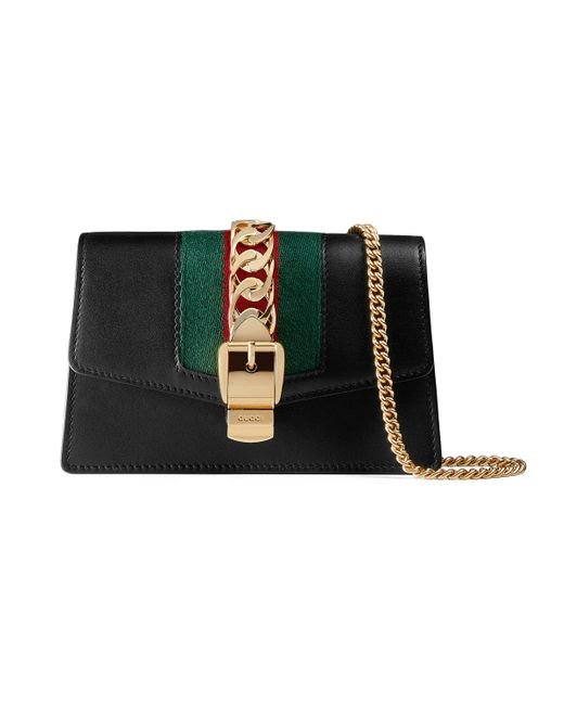 Gucci Black Sylvie Leather Super Mini Bag