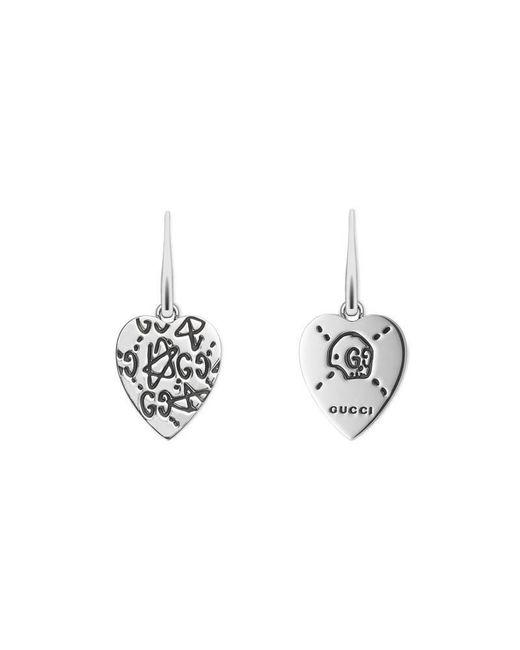 Gucci | Metallic Ghost Earrings In Silver | Lyst