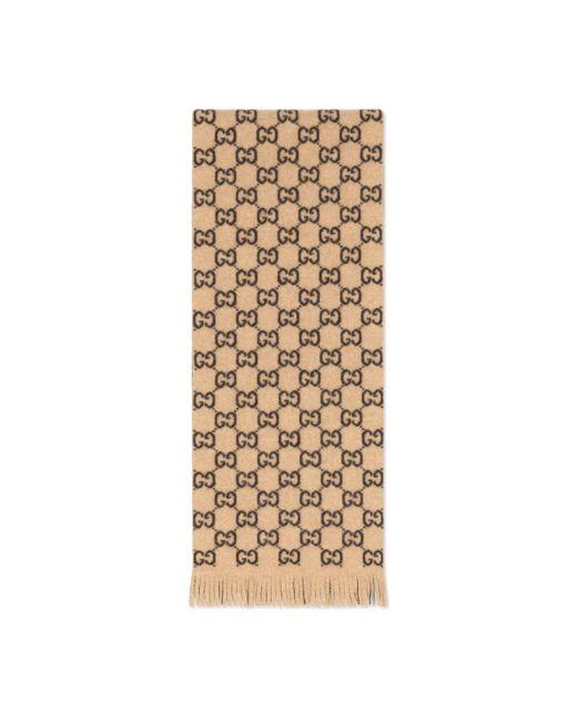 Écharpe en laine GG Gucci pour homme en coloris Natural