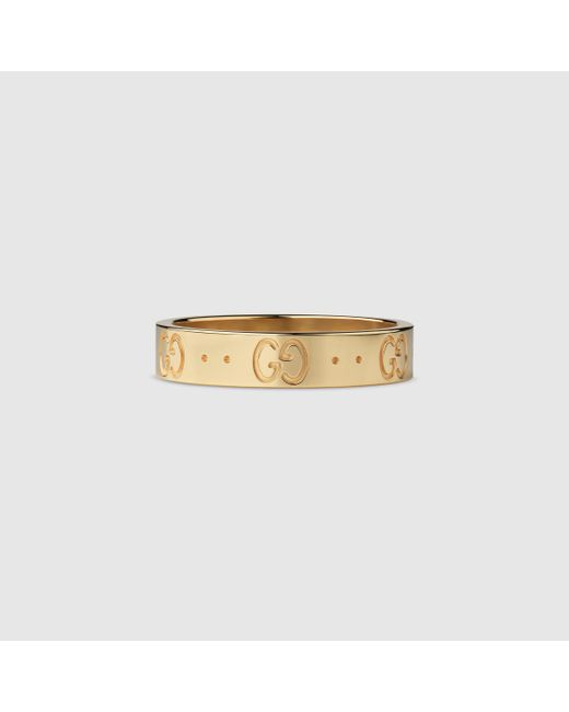 Gucci | Metallic Icon Thin Band for Men | Lyst