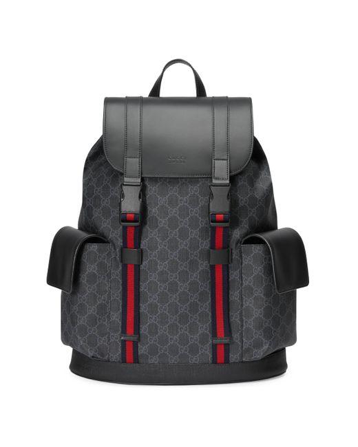 Gucci Rucksack aus weichem GG Supreme in Black für Herren