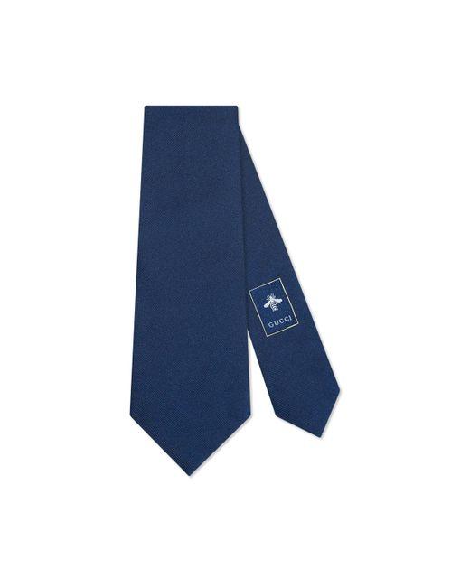 Corbata de Seda con Nudo con Serpiente Real Gucci de hombre de color Blue