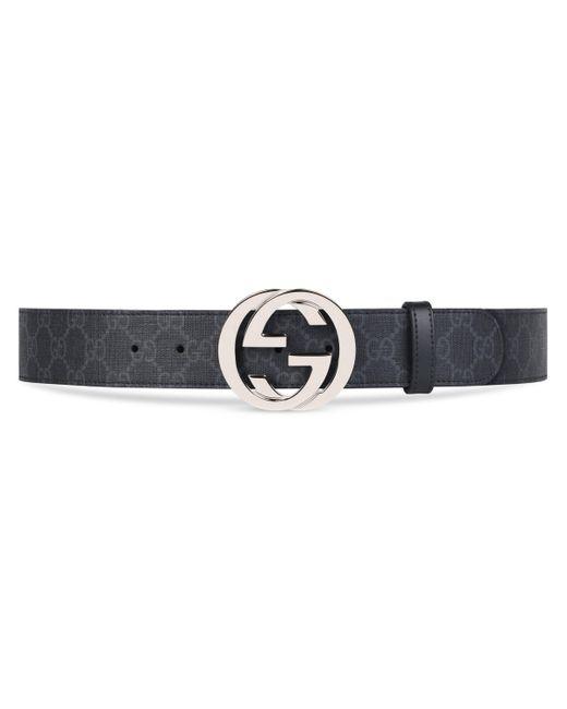 Gucci Gürtel aus GG Supreme mit GG Schnalle in Black für Herren