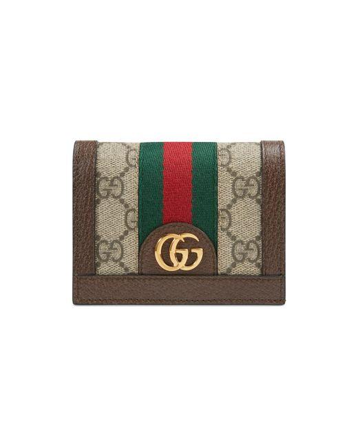 4b91c810c3ac Gucci - Multicolor Ophidia GG Card Case - Lyst ...