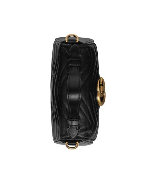 0af149f26232 ... Gucci - Black GG Marmont Mini Top Handle Bag - Lyst ...