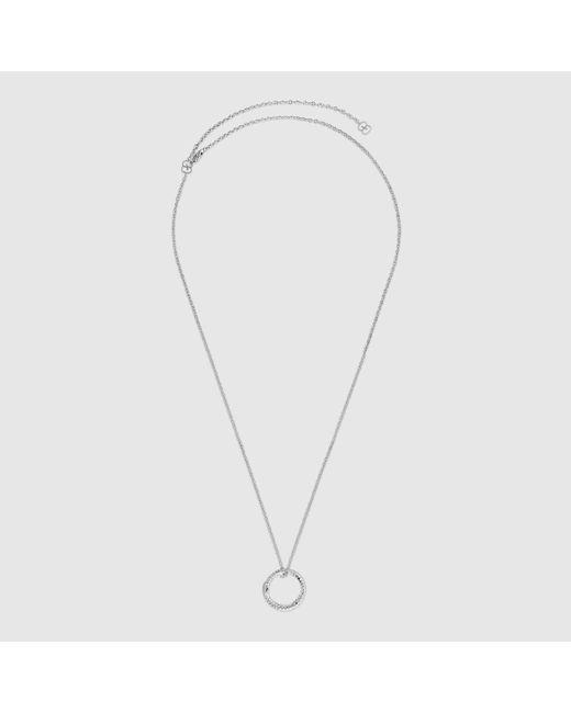 Gucci グッチウロボロス ホワイトゴールド&ダイヤモンド ネックレス Multicolor