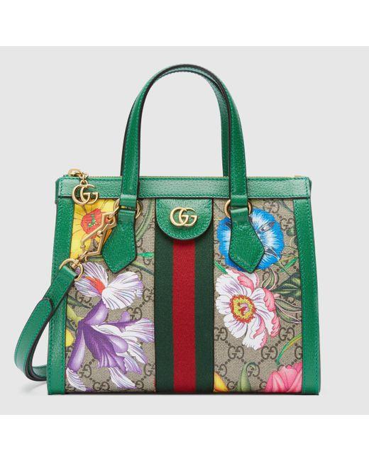 Gucci 〔オフィディア〕オンライン限定 GGフローラ スモール トートバッグ Green