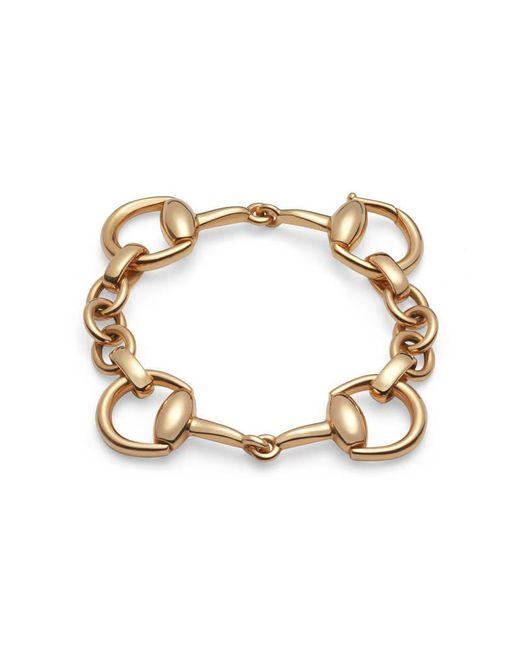 Gucci | Metallic Horsebit Bracelet In Yellow Gold | Lyst