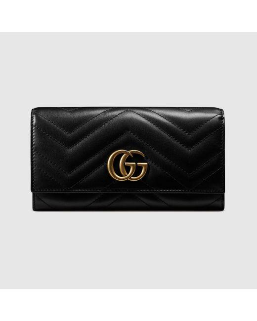 メンズ Gucci 〔GGマーモント〕 コンチネンタルウォレット Black