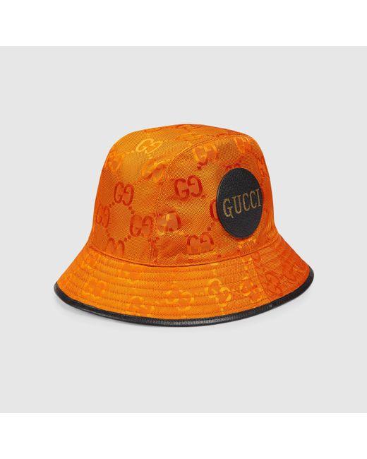 メンズ Gucci 【公式】 (グッチ) Off The Grid フェドラハットオレンジ GG Econyl®オレンジ Orange