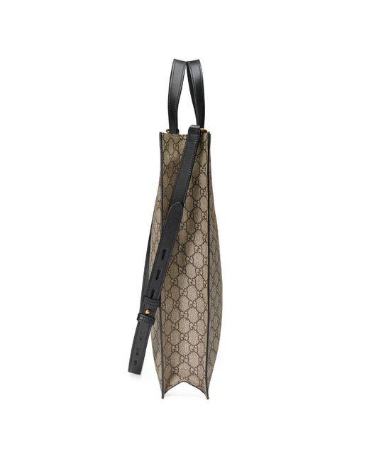 257c5a91e6f ... Gucci - Natural Kingsnake Print Soft GG Supreme Tote for Men - Lyst ...