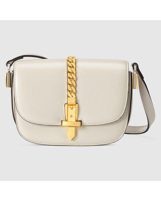 Gucci 【公式】 (グッチ)〔シルヴィ 1969〕ミニ ショルダーバッグホワイト レザーホワイト Multicolor