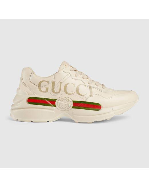 Gucci 〔ライトン〕 ウィメンズ ロゴ レザー スニーカー Multicolor