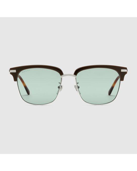 Gucci Sonnenbrille mit eckigem Rahmen in Brown für Herren