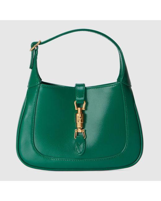 Gucci 【公式】 (グッチ)〔ジャッキー 1961〕ミニ ホーボーバッグエメラルドグリーン レザーグリーン Green