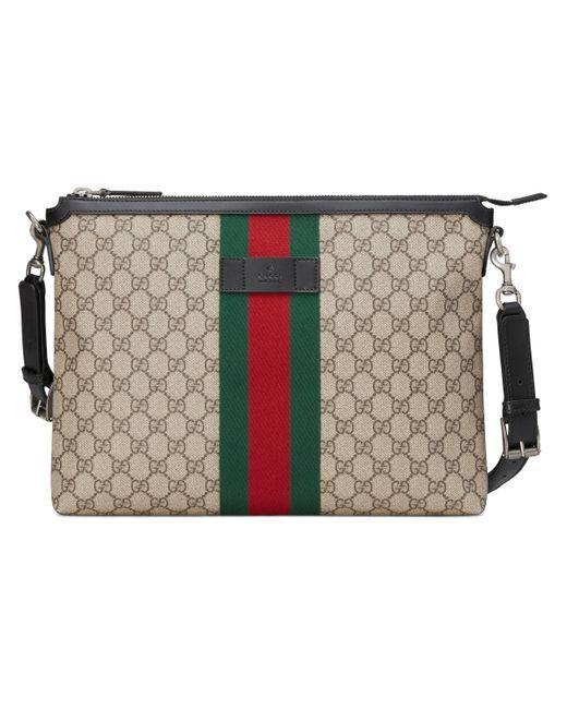 Gucci Natural GG Supreme Medium Messenger Bag