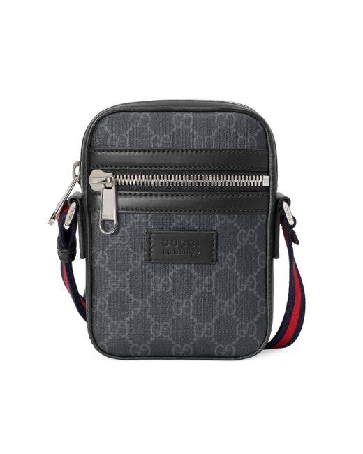 Bolso cruzado con GG Supreme Gucci de hombre de color Black