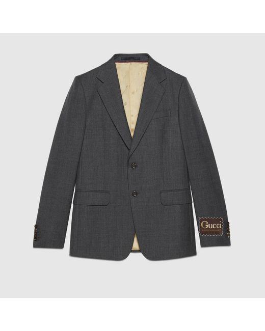 Gucci Jackett aus Wolle mit Etikett in Gray für Herren