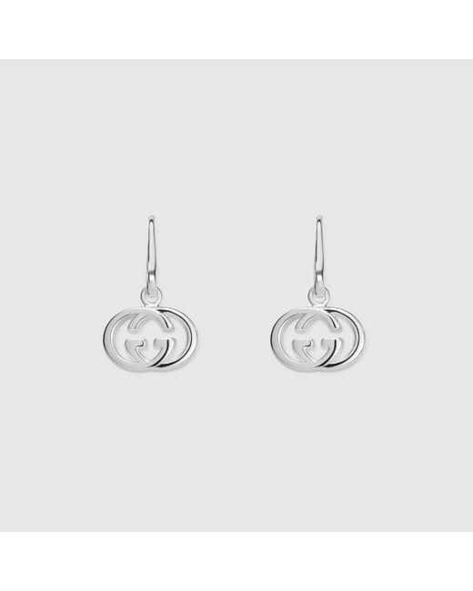 Gucci | Metallic Earrings With Interlocking G | Lyst