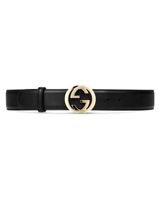 Gucci - Black Cintura In Pelle Con Fibbia Doppia G - Lyst