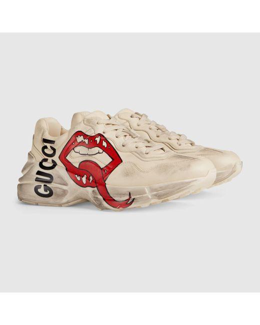 Gucci グッチ〔ライトン〕ウィメンズ マウス プリント スニーカー White