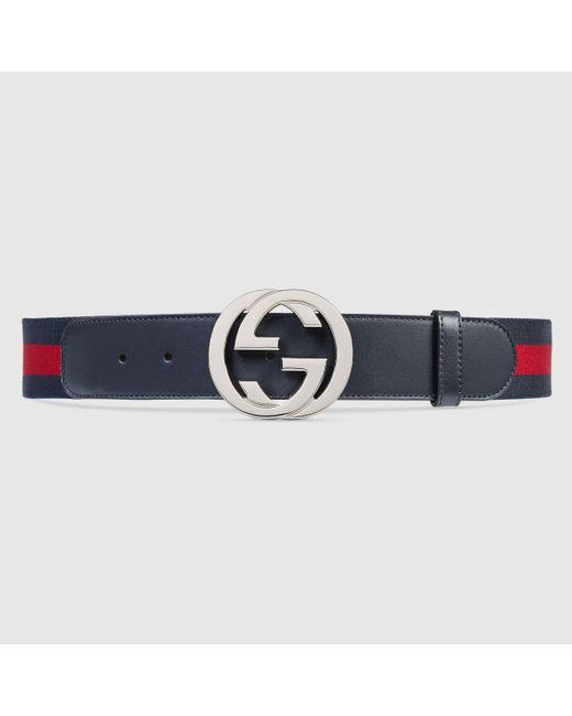 メンズ Gucci グッチウェブ ベルト(g バックル) Red