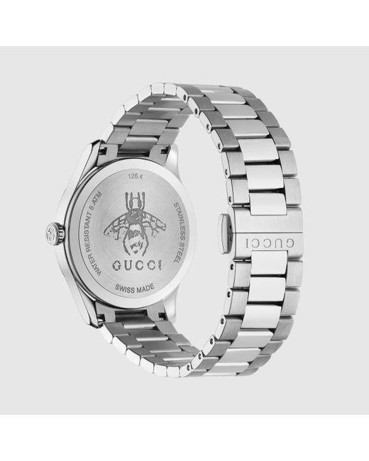 メンズ Gucci グッチ〔g-タイムレス〕ウォッチ(38 Mm) Metallic