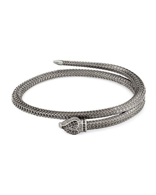 Gucci Garden Armband aus Silber mit Schlange in Metallic für Herren
