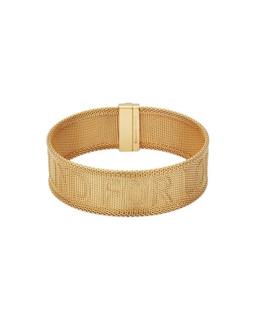 Gucci Metallic Blind For Love Bracelet In Gold