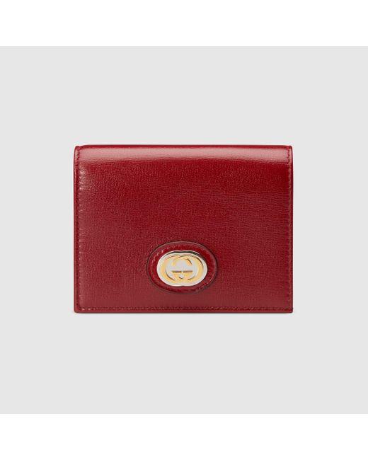 Gucci グッチオンライン限定 レザー カードケース ウォレット Red