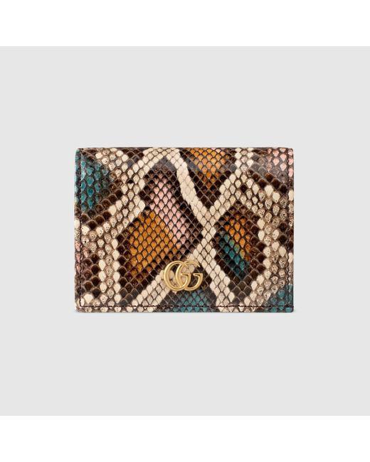 Gucci 〔GGマーモント〕パイソン カードケース ウォレット Multicolor