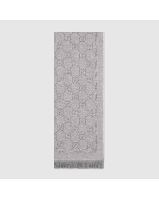 Gucci グッチGGパターンウィンタースカーフ Gray