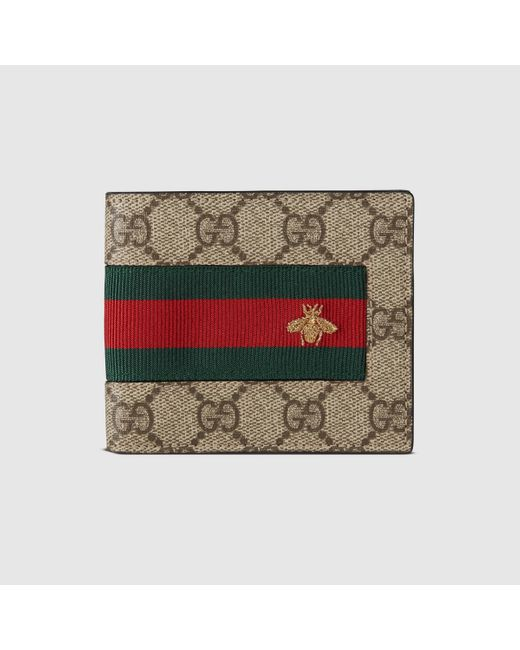 メンズ Gucci 【公式】 (グッチ)オンライン限定 ウェブ GGスプリーム ウォレットGGスプリーム キャンバスベージュ Multicolor