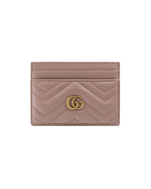 Gucci Pink GG Marmont Card Case for men
