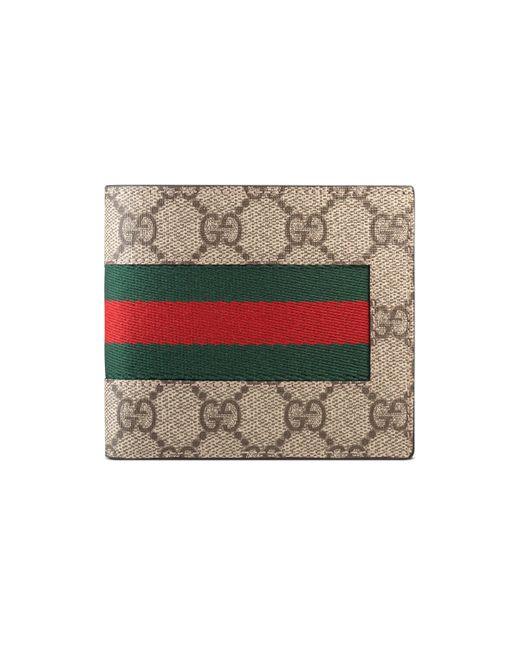 Gucci Multicolor Web GG Supreme Canvas Coin Wallet for men