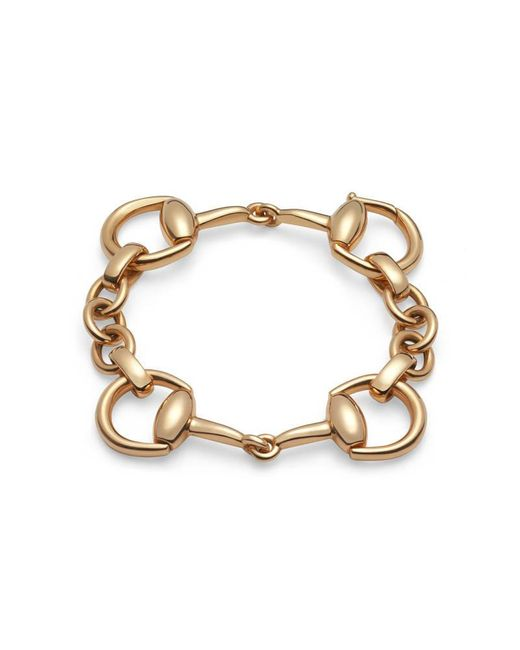 Gucci   Metallic Horsebit Bracelet In Yellow Gold   Lyst