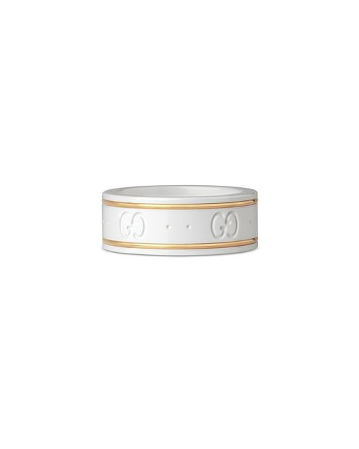 Gucci | Metallic Icon Ring In Yellow Gold | Lyst
