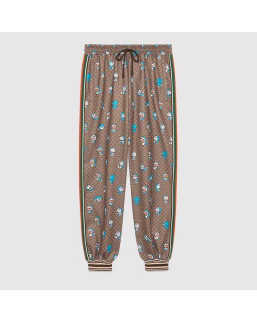 メンズ Gucci 【公式】 (グッチ)ドラえもん X GG パンツ Detail 2ベージュ&エボニーベージュ Multicolor