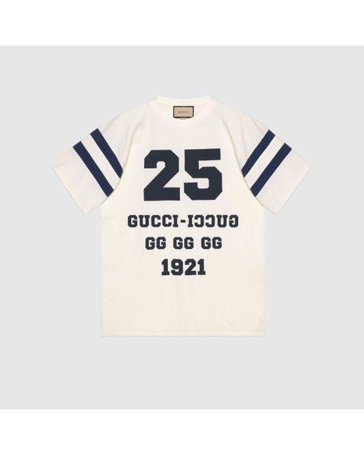 """メンズ Gucci 【公式】 (グッチ)""""25 """" プリント Tシャツホワイトホワイト Multicolor"""