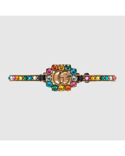 Gucci グッチダブルg レザー チョーカー Multicolor