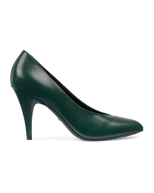 Escarpins en cuir Gucci en coloris Green