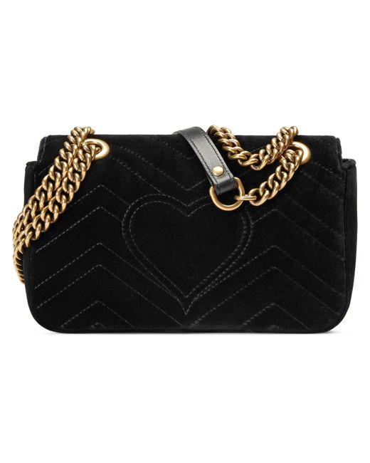 629175c83cb Lyst - Mini sac GG Marmont en velours Gucci en coloris Noir