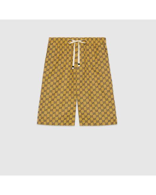 メンズ Gucci 【公式】 (グッチ)オンライン限定 GG マルチカラー キャンバス ショートパンツピンク&ブルーイエロー Multicolor
