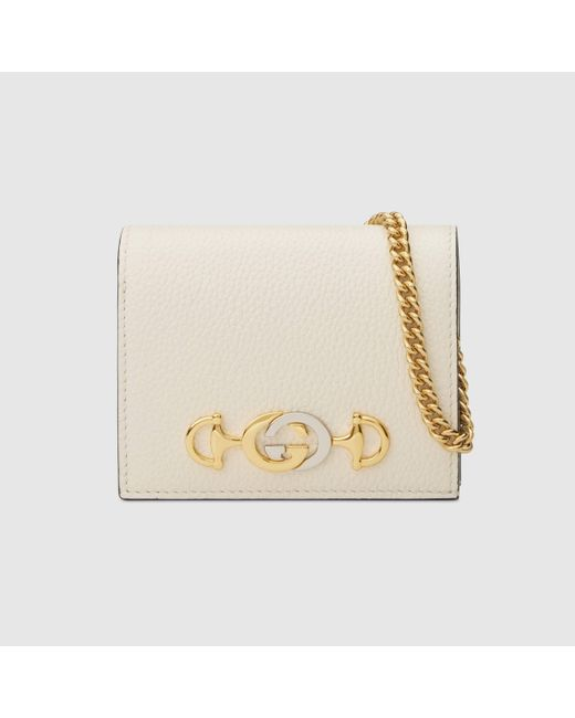 Gucci グッチ〔グッチ ズゥミ〕チェーン付き カードケース(コイン&紙幣入れ付き) Multicolor