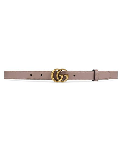 647983a0f Gucci Leather Belt With Double G Buckle in Pink - Save 22% - Lyst